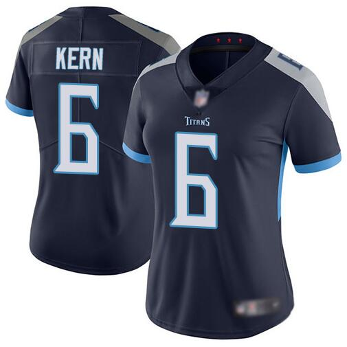 Women's Tennessee Titans #6 Brett Kern Navy Vapor Untouchable Limited Stitched NFL Jersey(Run Small)