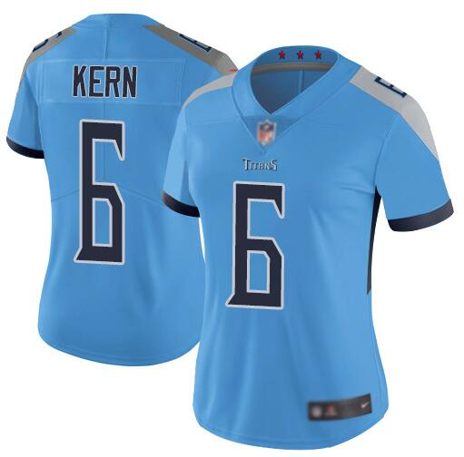 Women's Tennessee Titans #6 Brett Kern Light BLue Vapor Untouchable Limited Stitched NFL Jersey(Run Small)