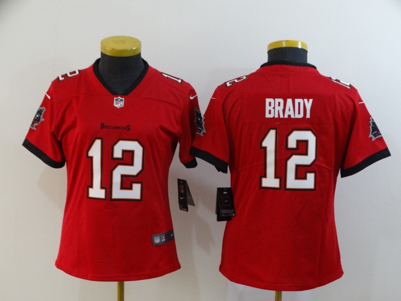 Women's Tampa Bay Buccaneers #12 Tom Brady Red Vapor Untouchable Limited Stitched NFL Jersey(Run Small)