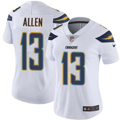 Women's Los Angeles Chargers #13 Keenan Allen White Vapor Untouchable Limited Stitched NFL Jersey