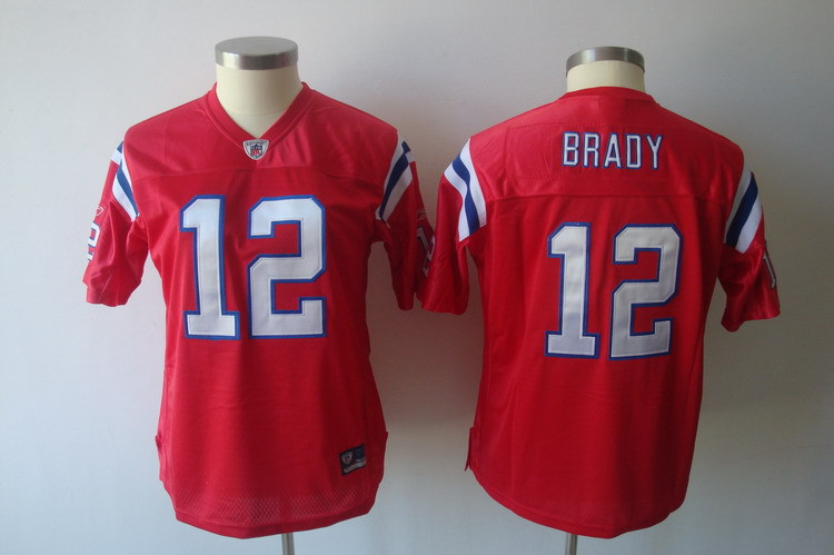Women's New England Patriots #12 Tom Brady Red Limited Stitched NFL Jersey