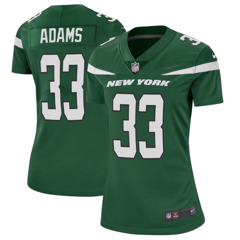 Women's New York Jets #33 Jamal Adams 2019 Green Vapor Untouchable Limited Stitched NFL Jersey(Run Small)