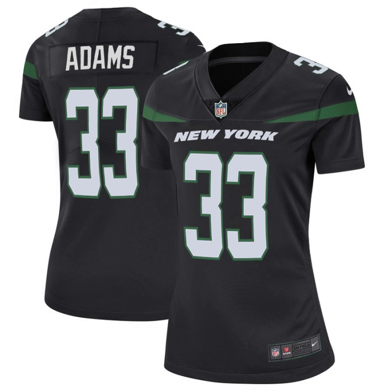 Women's New York Jets #33 Jamal Adams 2019 Black Vapor Untouchable Limited Stitched NFL Jersey(Run Small)