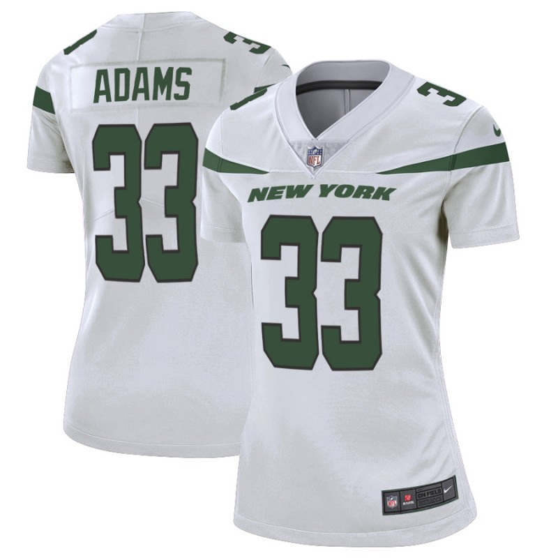 Women's New York Jets #33 Jamal Adams 2019 White Vapor Untouchable Limited Stitched NFL Jersey(Run Small)