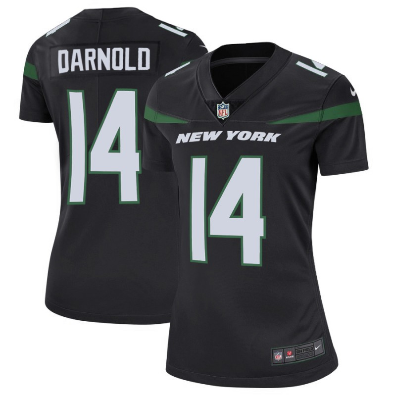 Women's New York Jets #14 Sam Darnold 2019 Black Vapor Untouchable Limited Stitched NFL Jersey(Run Small)