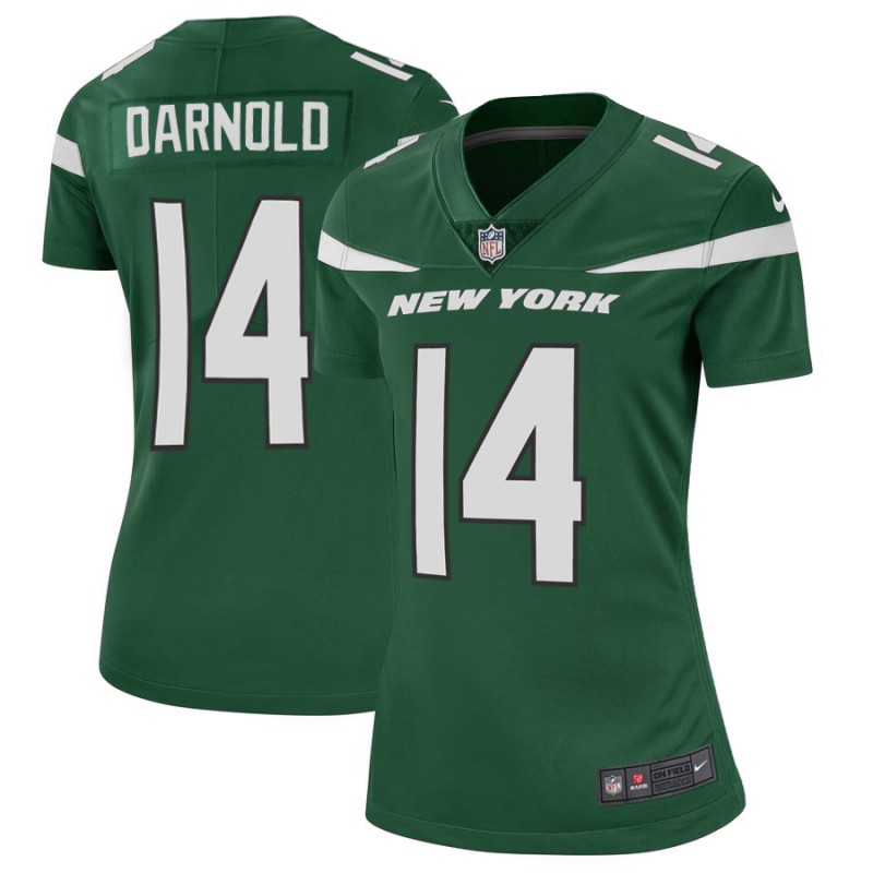 Women's New York Jets #14 Sam Darnold 2019 Green Vapor Untouchable Limited Stitched NFL Jersey(Run Small)