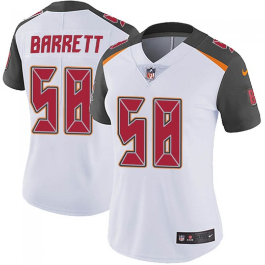 Women's Tampa Bay Buccaneers #58 Shaq Barrett White Vapor Untouchable Limited Stitched NFL Jersey(Run Small)