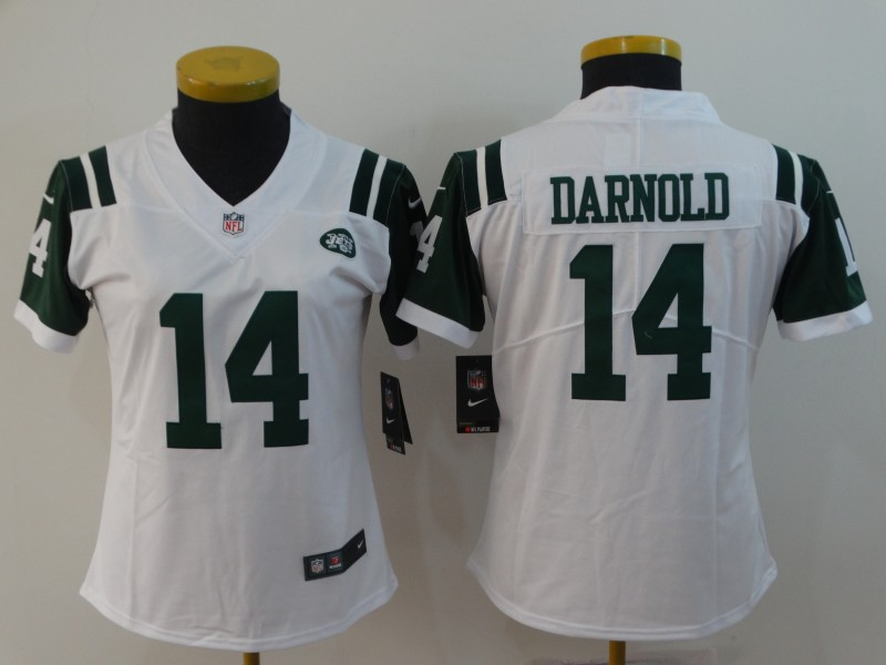 Women's New York Jets #14 Sam Darnold White Vapor Untouchable Limited Stitched NFL Jersey