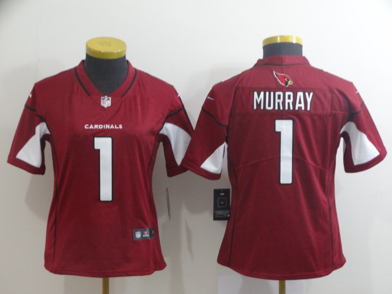 Women's Arizona Cardinals #1 Kyler Murray Red Vapor Untouchable Limited Stitched NFL Jersey(Run Small)