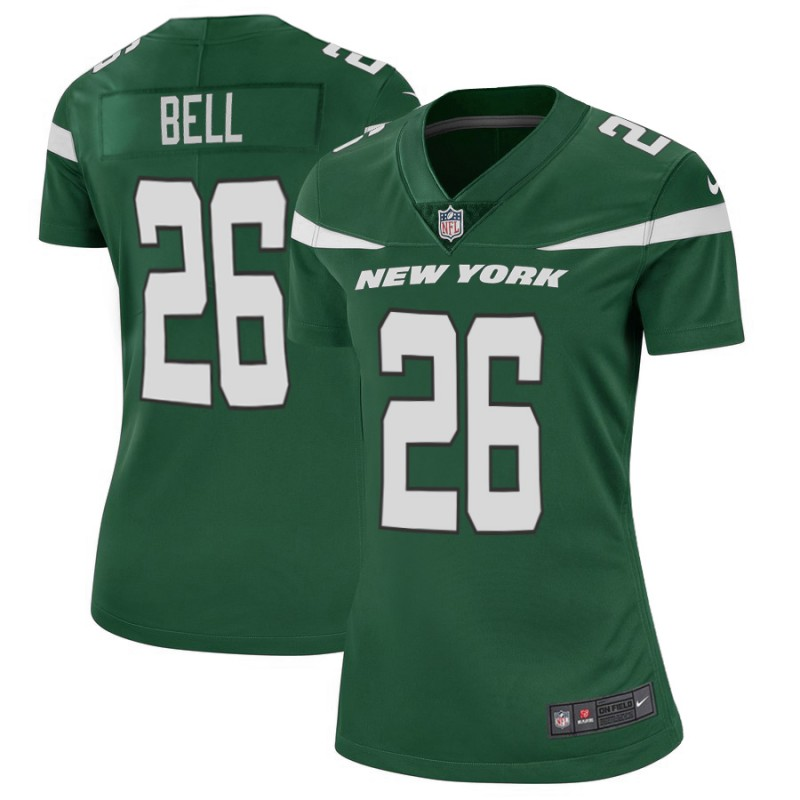 Women's New York Jets #26 Le'Veon Bell 2019 Green Vapor Untouchable Limited Stitched NFL Jersey(Run Small)
