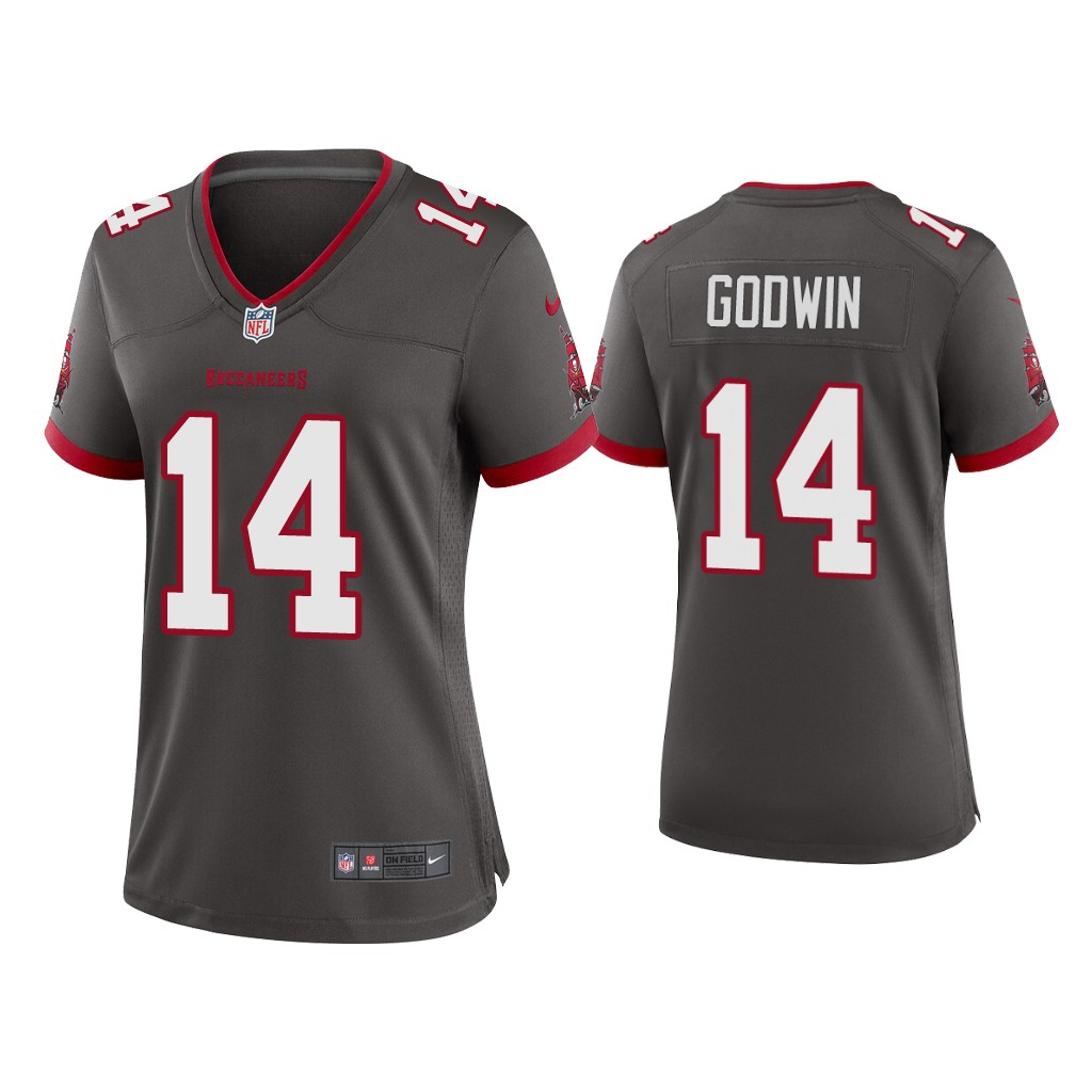Women's Tampa Bay Buccaneers #14 Chris Godwin 2020 Grey Stitched Jersey(Run Small)