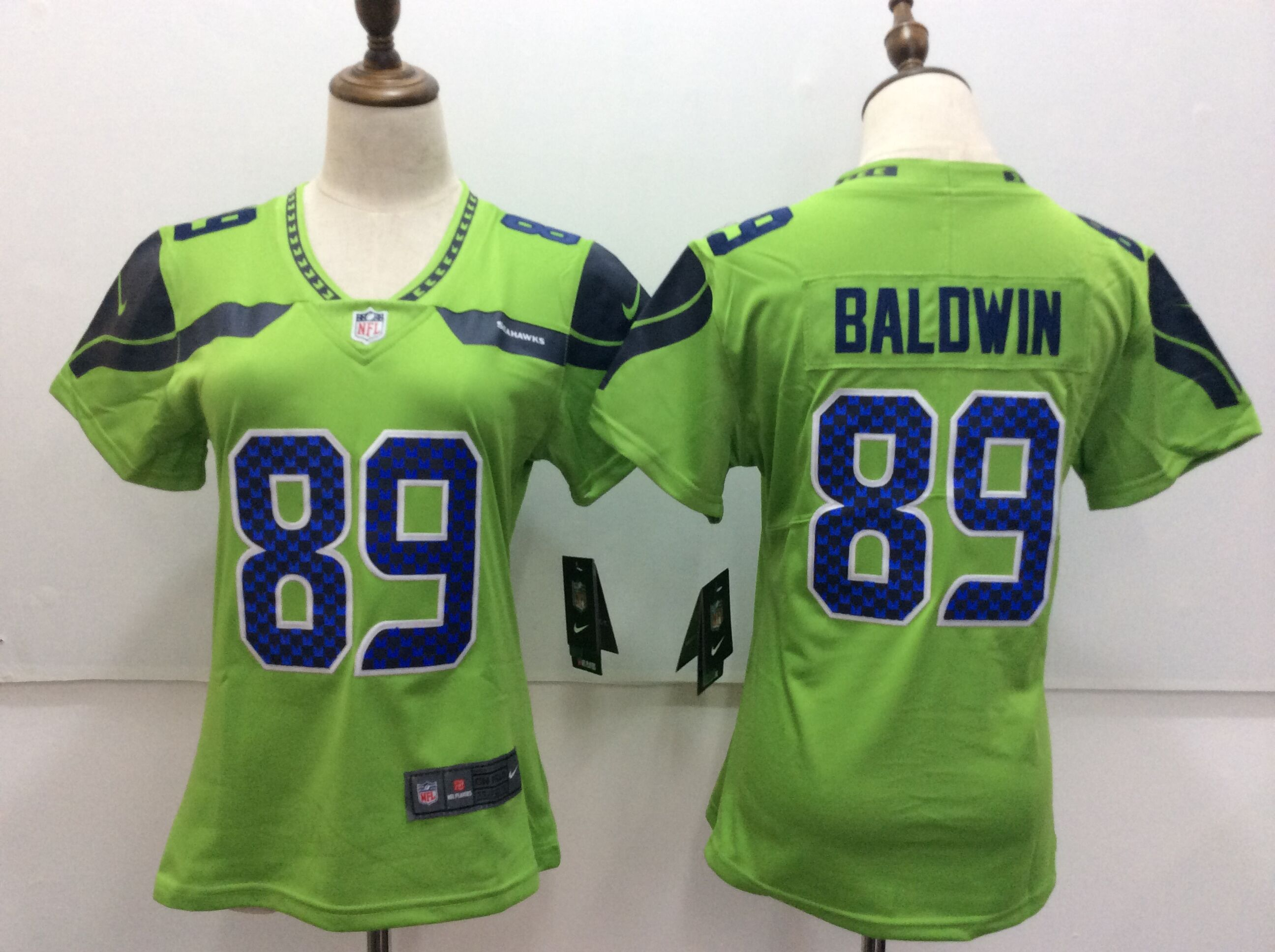 Women's Nike Seattle Seahawks #89 Doug Baldwin Green Untouchable Limited Stitched NFL Jersey