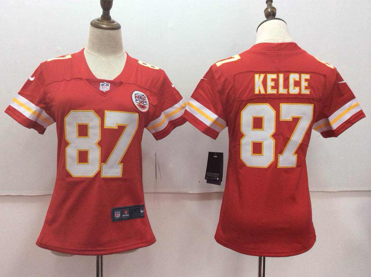 Women's Nike Kansas City Chiefs #87 Travis Kelce Red Vapor Untouchable Player Limited Stitched NFL Jersey