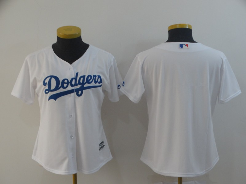 Women's Los Angeles Dodgers White Cool Base Stitched MLB Jersey(Run Small)