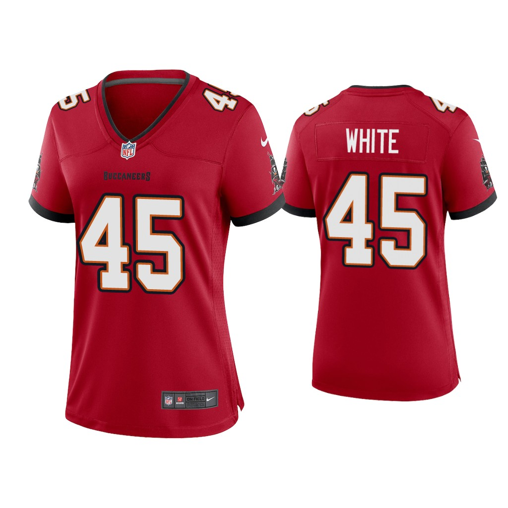 Women's Tampa Bay Buccaneers #45 Devin White 2020 Red Stitched Jersey(Run Small)