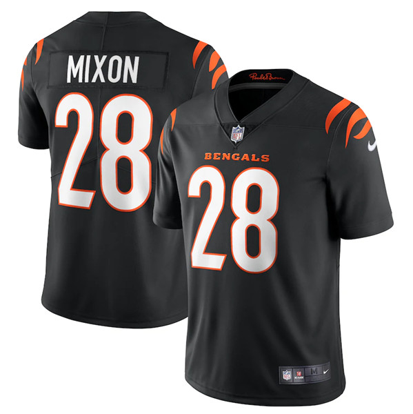 Women's Cincinnati Bengals #28 Joe Mixon 2021 Black Vapor Limited Stitched Jersey(Run Small)