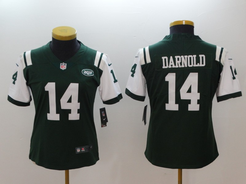 Women's NFL New York Jets #14 Sam Darnold Green 2018 Draft First Round Vapor Untouchable Limited Stitched Jersey