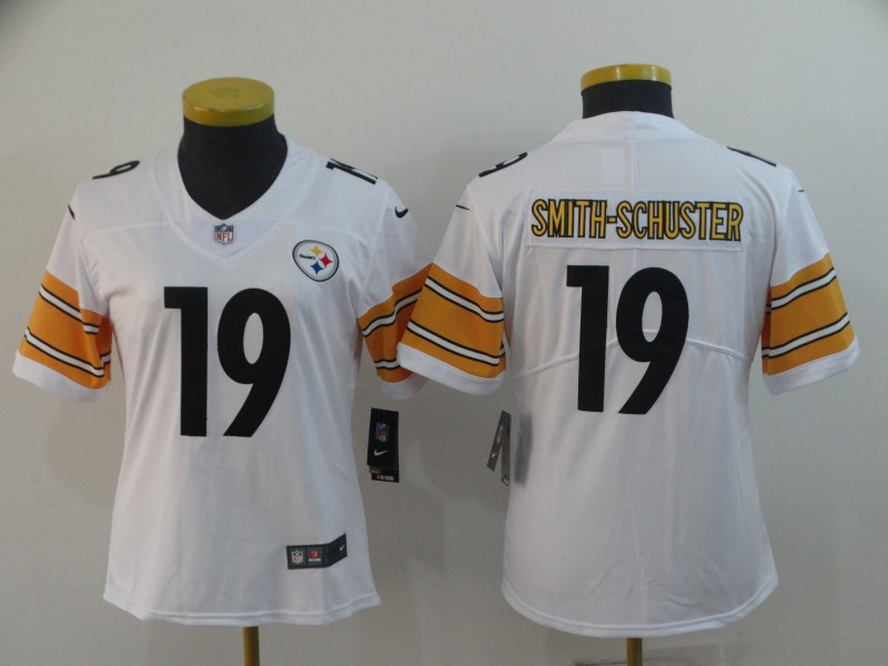 Women's Pittsburgh Steelers #19 JuJu Smith-Schuster Vapor Untouchable Limited Stitched NFL Jersey