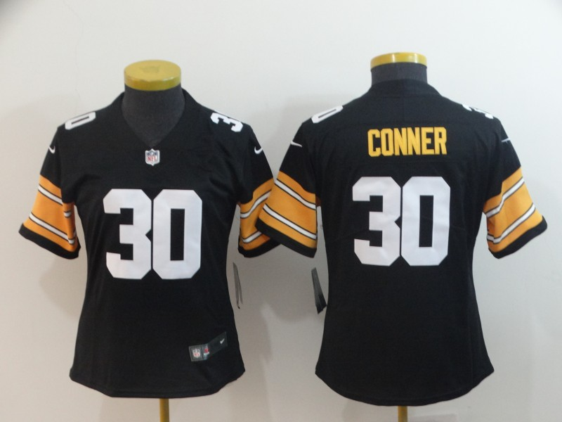 783f012ee7f Women's Pittsburgh Steelers #30 James Conner 2018 Black Vapor Untouchable  Limited Stitched NFL Jersey