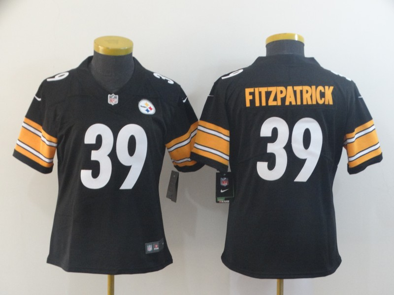 Women's Pittsburgh Steelers #39 Minkah Fitzpatrick Black Vapor Untouchable Limited Stitched NFL Jersey(Run Small)