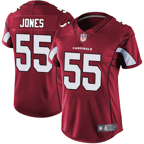 Women's Arizona Cardinals #55 Chandler Jones Red Vapor Untouchable Limited Stitched NFL Jersey(Run Small)