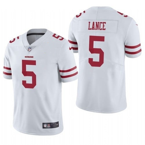 Women's San Francisco 49ers #5 Trey Lance White Vapor Untouchable Limited Stitched Jersey(Run Small)