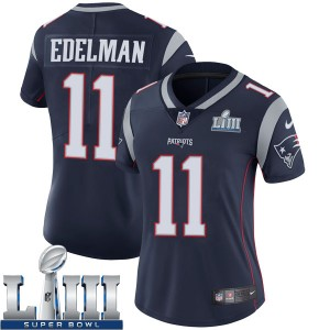 Women's New England Patriots #11 Julian Edelman Navy Blue Super Bowl LIII Vapor Untouchable Limited Stitched NFL Jersey ( run small )
