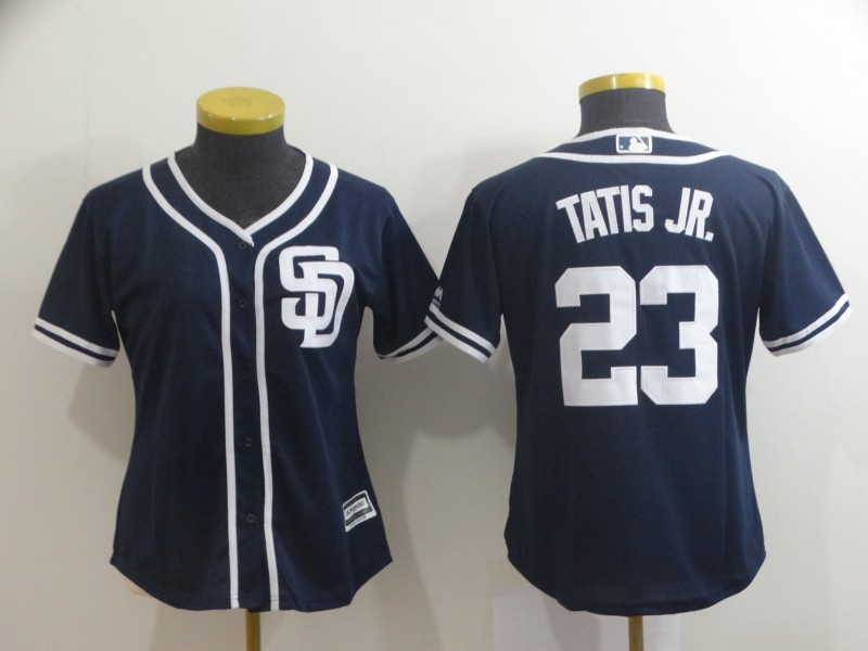 Women's San Diego Padres #23 Fernando Tatis Jr. Navy Cool Base Stitched MLB Jersey