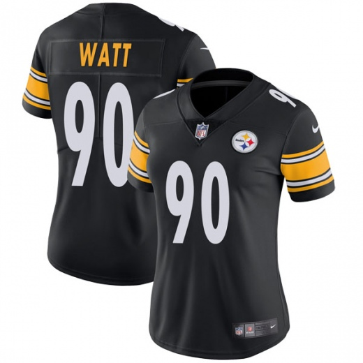 Women's Pittsburgh Steelers #90 T. J. Watt Black Vapor Untouchable Limited Stitched NFL Jersey(Run Small)