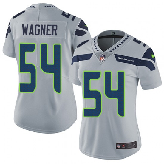 Women's Seattle Seahawks #54 Bobby Wagner Grey Vapor Untouchable Limited Stitched NFL Jersey(Run Small)