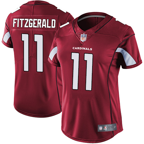 Women's Arizona Cardinals #11 Larry Fitzgerald Red Vapor Untouchable Limited Stitched NFL Jersey(Run Small)