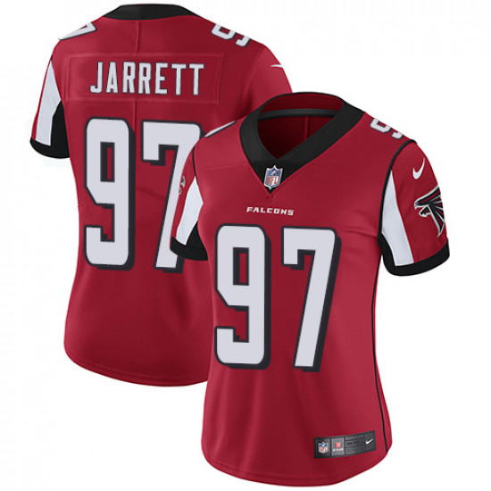 Women's Atlanta Falcons # 97 Grady Jarrett Red Vapor Untouchable Limited Stitched NFL Jersey(Run Small)