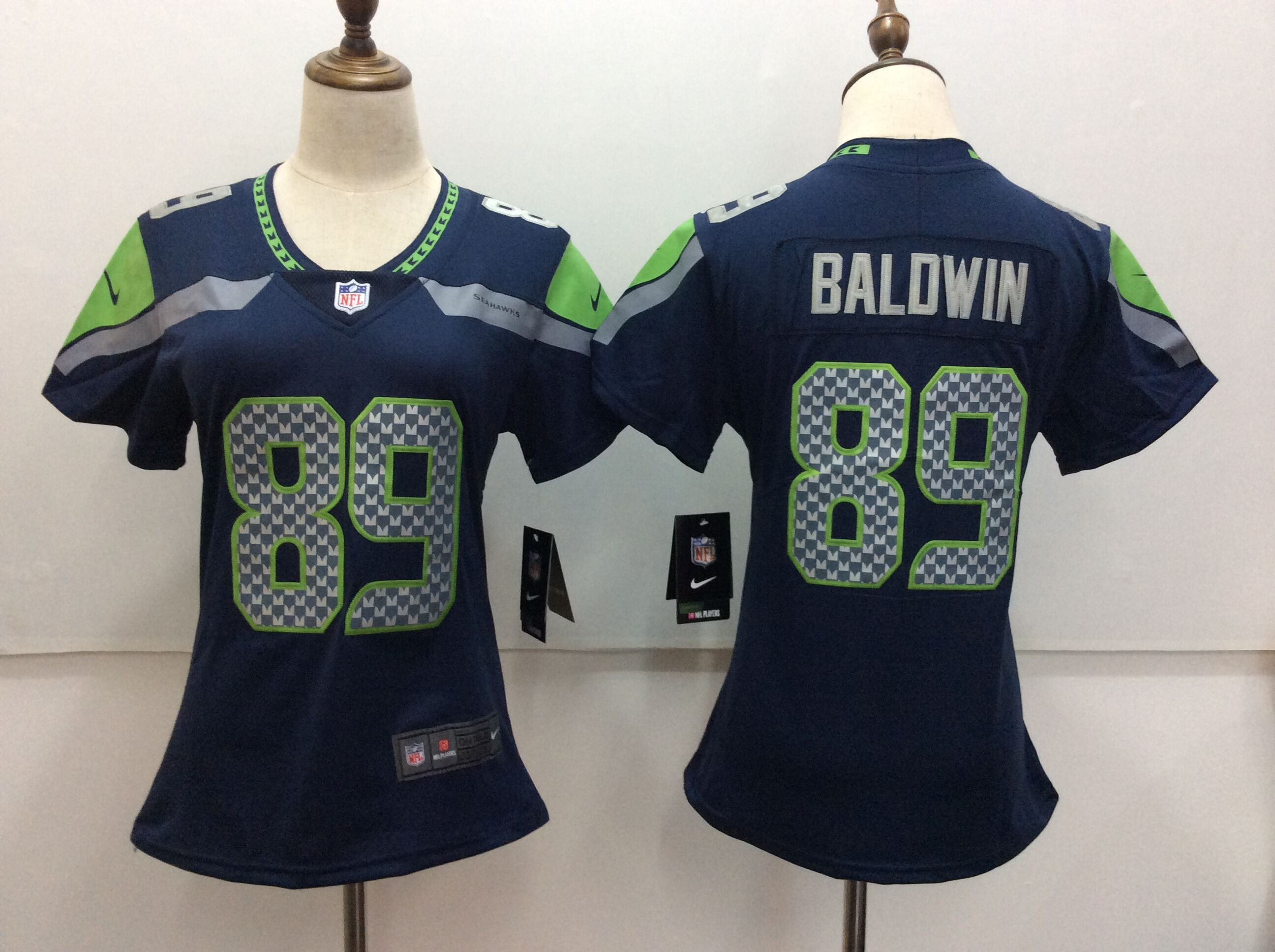 Women's Nike Seattle Seahawks #89 Doug Baldwin Blue Vapor Untouchable Limited Stitched NFL Jersey