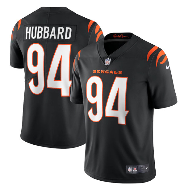 Women's Cincinnati Bengals #94 Sam Hubbard 2021 Black Vapor Limited Stitched Jersey(Run Small)