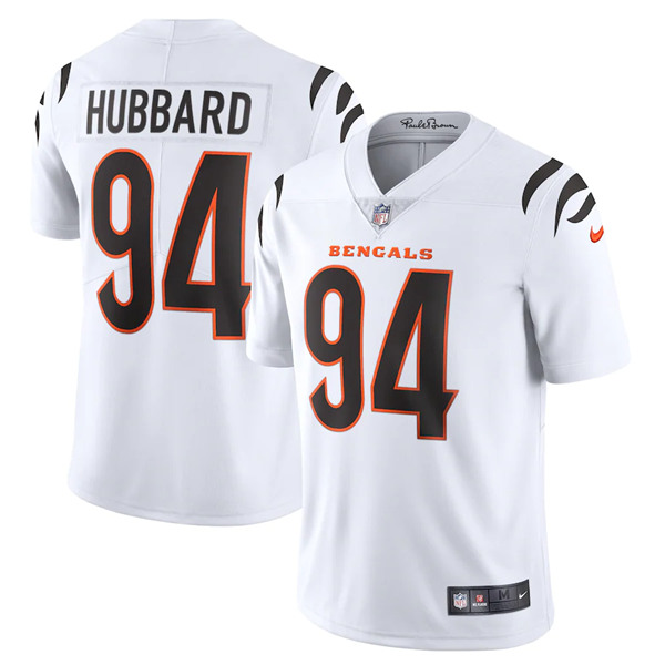 Women's Cincinnati Bengals #94 Sam Hubbard 2021 White Vapor Limited Stitched Jersey(Run Small)