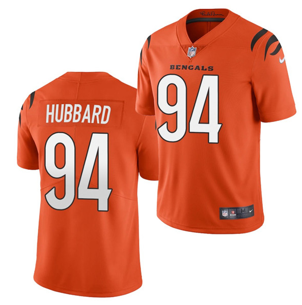 Women's Cincinnati Bengals #94 Sam Hubbard 2021 New Orange Vapor Limited Stitched Jersey(Run Small)