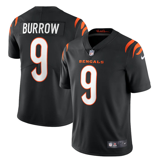 Women's Cincinnati Bengals #9 Joe Burrow 2021 Black Vapor Limited Stitched Jersey(Run Small)