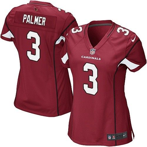 Nike Cardinals #3 Carson Palmer Red Team Color Women's Stitched NFL Elite Jersey
