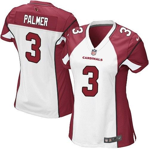 Nike Cardinals #3 Carson Palmer White Women's Stitched NFL Elite Jersey