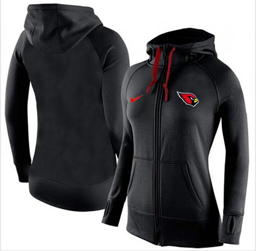 Women's Nike Arizona Cardinals Full-Zip Performance Hoodie Black