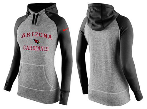 Women's Nike Arizona Cardinals Performance Hoodie Grey & Black