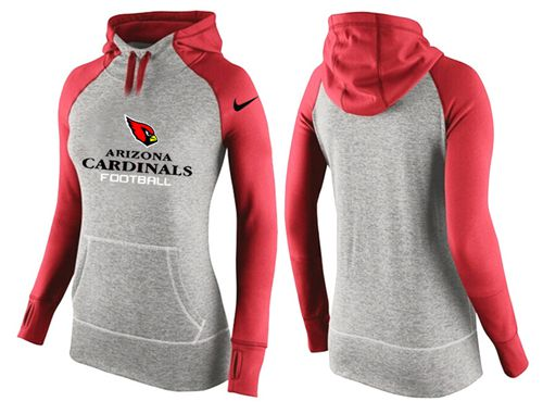 Women's Nike Arizona Cardinals Performance Hoodie Grey & Red_2
