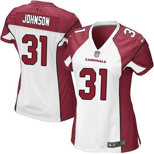 Nike Cardinals #31 David Johnson White Women's Stitched NFL Elite Jersey