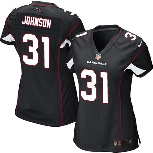 Nike Cardinals #31 David Johnson Black Alternate Women's Stitched NFL Elite Jersey