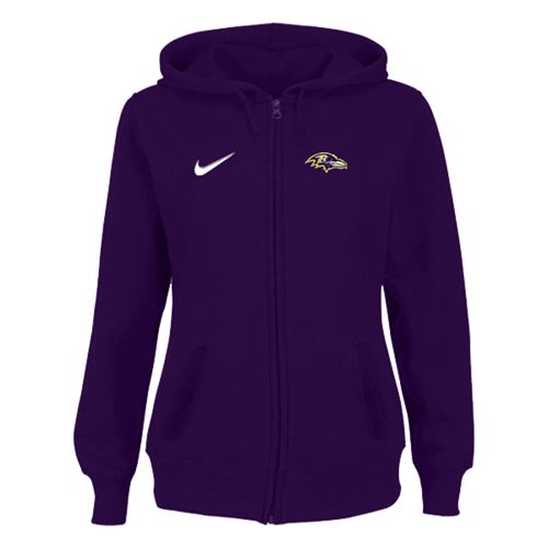 Women's Baltimore Ravens Stadium Rally Full Zip Hoodie Purple