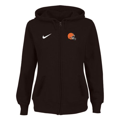 Women's Cleveland Browns Stadium Rally Full Zip Hoodie Brown
