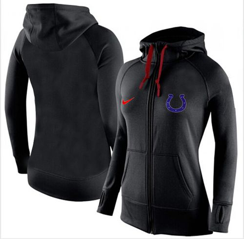 Women's Nike Indianapolis Colts Full-Zip Performance Hoodie Black