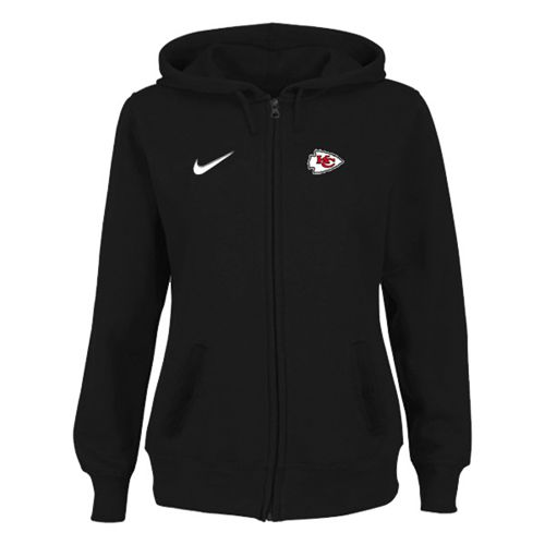Women's Kansas City Chiefs Stadium Rally Full Zip Hoodie Black