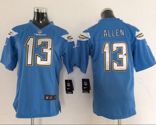 Nike Chargers #13 Keenan Allen Electric Blue Alternate Women's Stitched NFL New Elite Jersey
