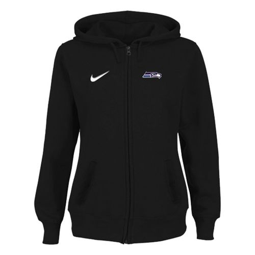 Women's Seattle Seahawks Stadium Rally Full Zip Hoodie Black